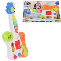 Гитара 2000-NL (12шт) 37,5см,муз,звук,свет,3режима,2рез.гром,на бат-ке,в кор-ке,40-22-7см