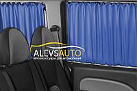 Шторы Ford Tourneo Custom 2014-  Синие