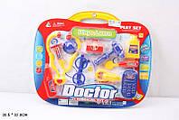 Доктор стетоскоп,шприц,термом,очки,телефон,аксес, на планш. 38,5*32см /96-2/