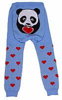 """Детские теплые гамаши (лосины, рейтузы) под памперс """"Веселые попки - Литл Панда"""" для мальчика - цвет голубой,"""
