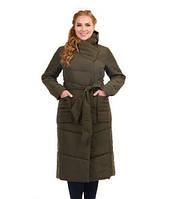 Женская удлиненная куртка из атласа,Батал до 58 рр