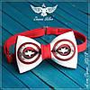 Галстук - бабочка капитан Америка