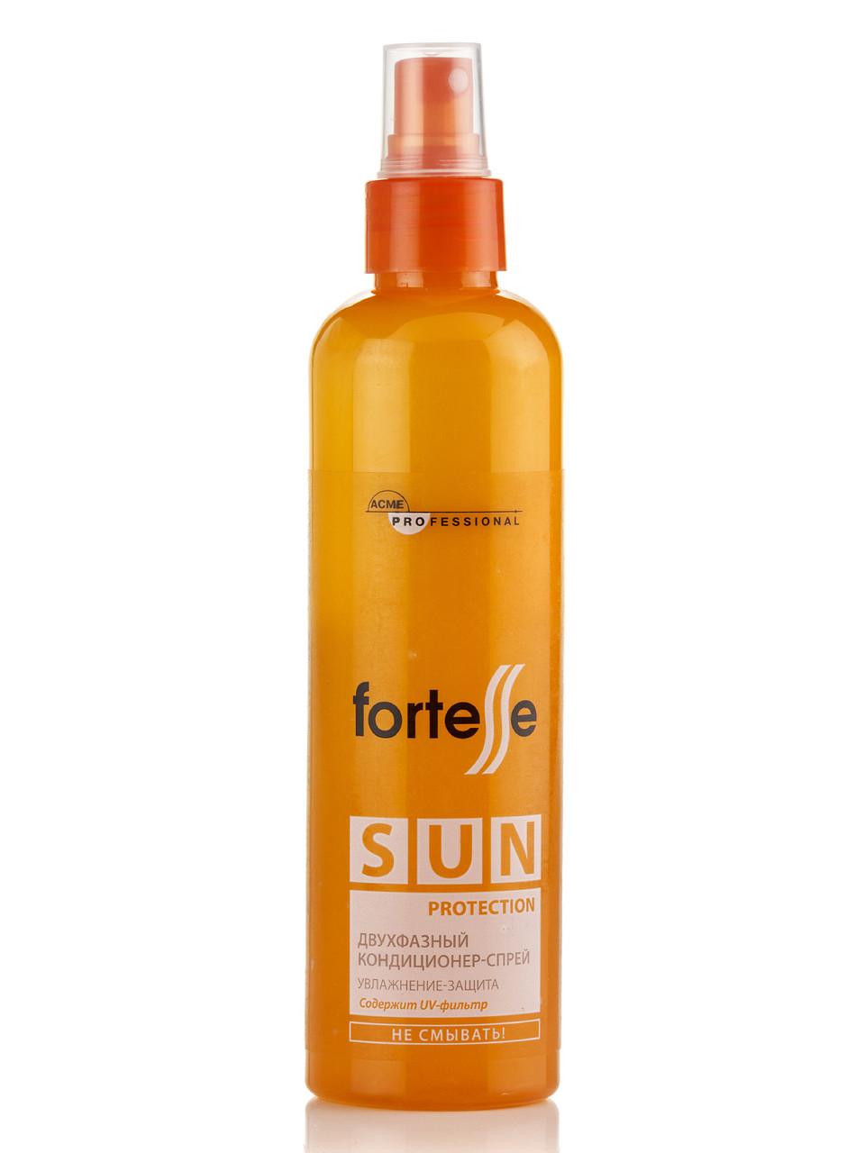 Двухфазный кондиционер-спрей «Fortesse Pro» SUN с UV-фильтром, 250 мл