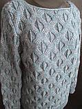 Женские вязанные кофты с красивым узором, фото 3