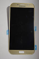 Дисплей Samsung A720 Galaxy A7 с сенсором Золотой Gold оригинал , GH97-19723B, фото 3