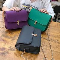 Матовая сумка фиолетовая, розовая, зеленая, черная