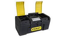 """Ящик для инструмента Stanley Basic Toolbox, ручка увеличенной ширины с мягкой накладкой, 486 x 266 x 236 мм (19""""), 1-79-217"""