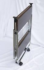 Столик складной сервировочный с ярусом для бутылок «Темный орех» 0201-U, фото 3