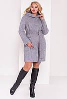 """Женское осеннее пальто """"Анита Donna 3467"""" серый 48"""