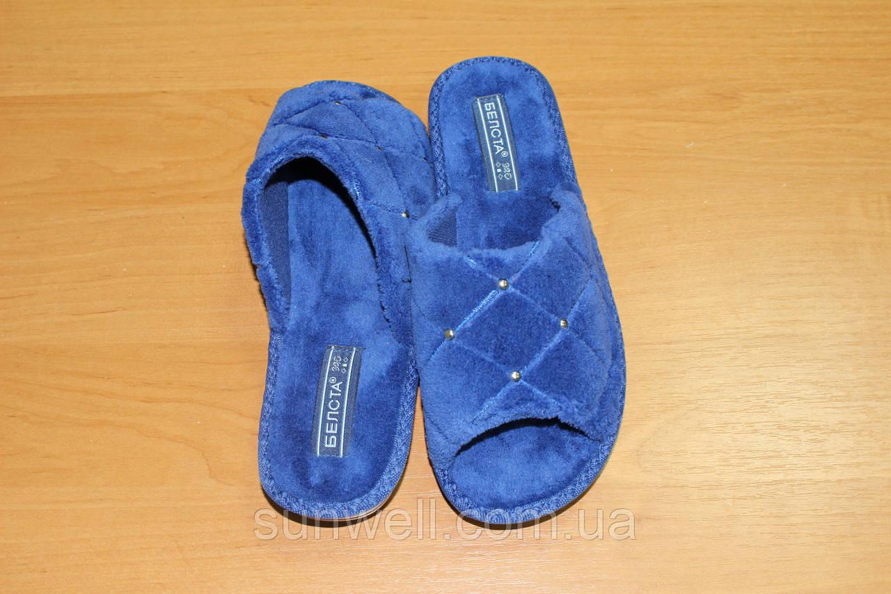 Жіночі тапочки Белста з відкритим носком махра р-р