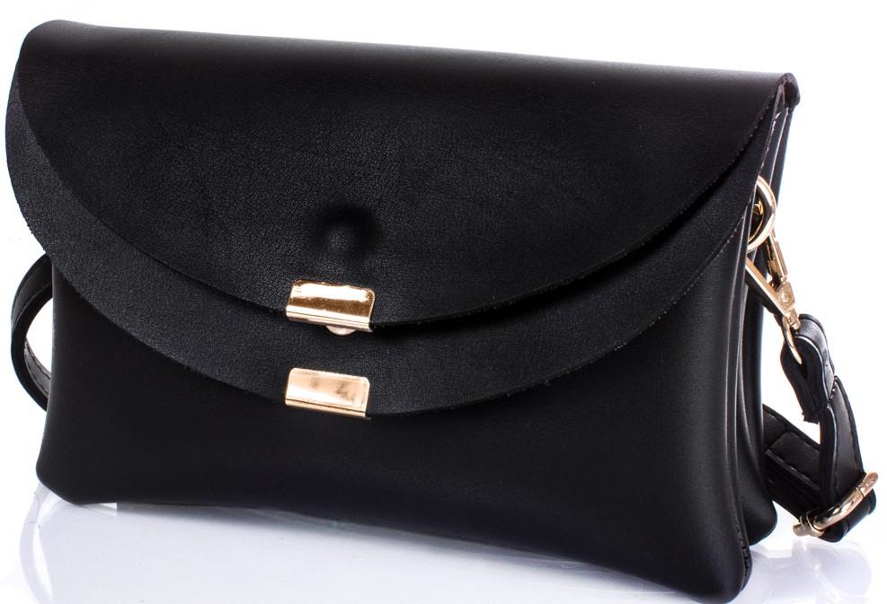 Симпатичная женская сумка-клатч ETERNO ETK782-2, кожзаменитель, цвет черный.