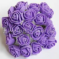 Розы из латекса, 1,5-2 см, сиреневый