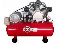 Трехфазный компрессор Intertool PT-0052, 15 кВт, 2000 л/мин, 8 атм, ресивер-300 л, 300 кг