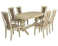 Комплект стол и стулья Брюссель (Бук массив)