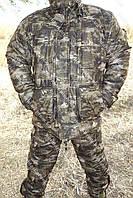 Зимний Костюм для рыбалки и охоты камуфляж  ночной лес   ,алова