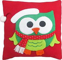 Подушка Сова 42х42 см новогодний сувенир