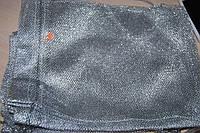 Мешочек для подарков сетка серебро