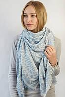 Качественный шарф плед с абстрактным рисунком