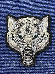 Нашивка волк 70х80мм