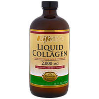 Жидкий коллаген + гиалуроновая кислота 2000 мг/100 мг 473 мл прочность гибкость смазка суставов Life Time USA