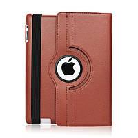 Кожаный чехол-книжка TTX (360 градусов) для Apple iPad 2 / 3 /4 (Коричневый)