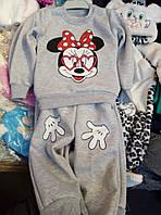 Теплый костюм на байке с Микки Маусом для девочки