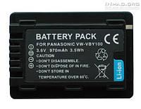 Аккумулятор для видеокамеры Panasonic VW-VBY100, 970 mAh.