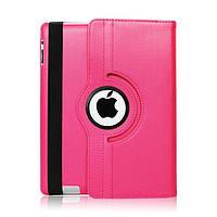 Кожаный чехол-книжка TTX (360 градусов) для Apple iPad 6 / AIR 2 (Розовый)