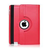 Кожаный чехол-книжка TTX (360 градусов) для Apple iPad 6 / AIR 2 (Красный)