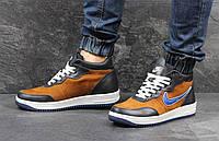 Кроссовки Nike Air (коричневые) зима, зимние кроссовки найк аир макс