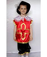 Премиум! Мушкетёр Красный Маскарадные костюмы, Комплектация 3 Элемента, Размеры 3-6 лет, Украина