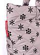 """Дутая сумка из ткани POOLPARTY с принтом """"снежинка"""", фото 4"""