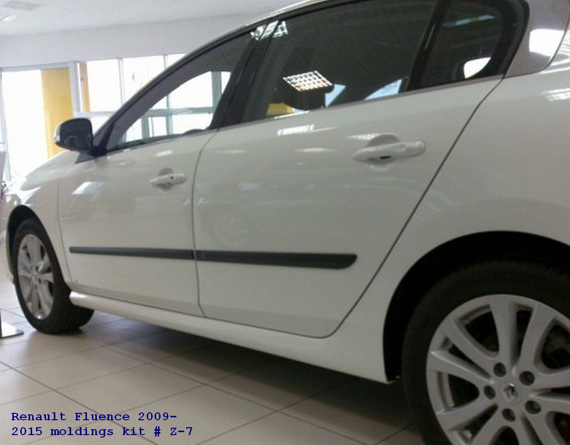 Молдинги на двери Renault Fluence 2009-2015