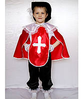 Премиум! Мушкетёр Маскарадные костюмы для детей, Комплектация 5 Элементов, Размеры 3-8 лет, Украина