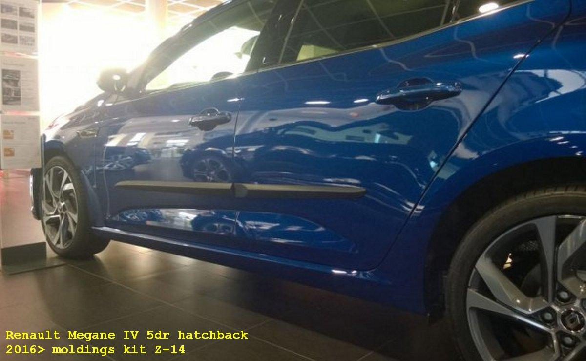 Молдинги на двери Renault Megane 2016+