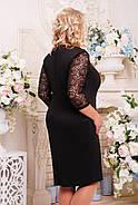 Женское коктельное прямое платье большого размера Пчела цвет черный+белый размер 52-62 , фото 2