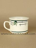 Чашка керамика Славянск Цилиндр Лист - художественная роспись