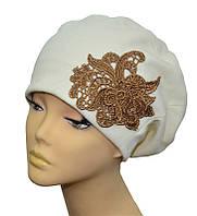 Шапка женская шапка берет из ангоры Милана ажур белая, лиловая, розовая, фиолетовая, розовая, черная, терракот