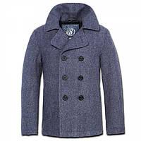 Пальто Brandit Pea Coat denim blue heringbone