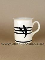 Чашка керамика оптом цилиндр офисная - художественная роспись бамбук