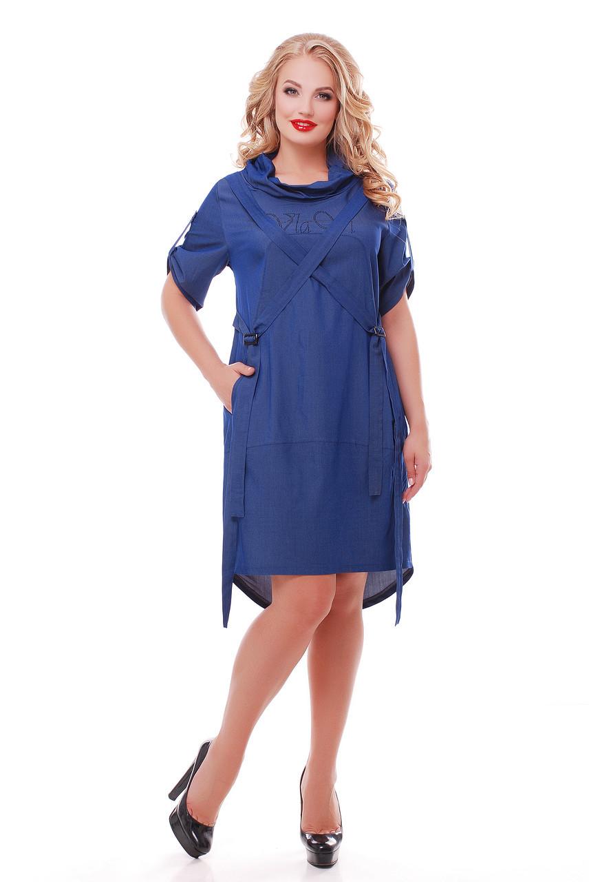 Платье женское Берта джинс