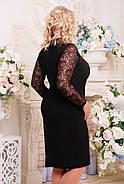 Женское платье с гипюром Тая цвет черный размер 52-60 / батальные размеры, фото 2