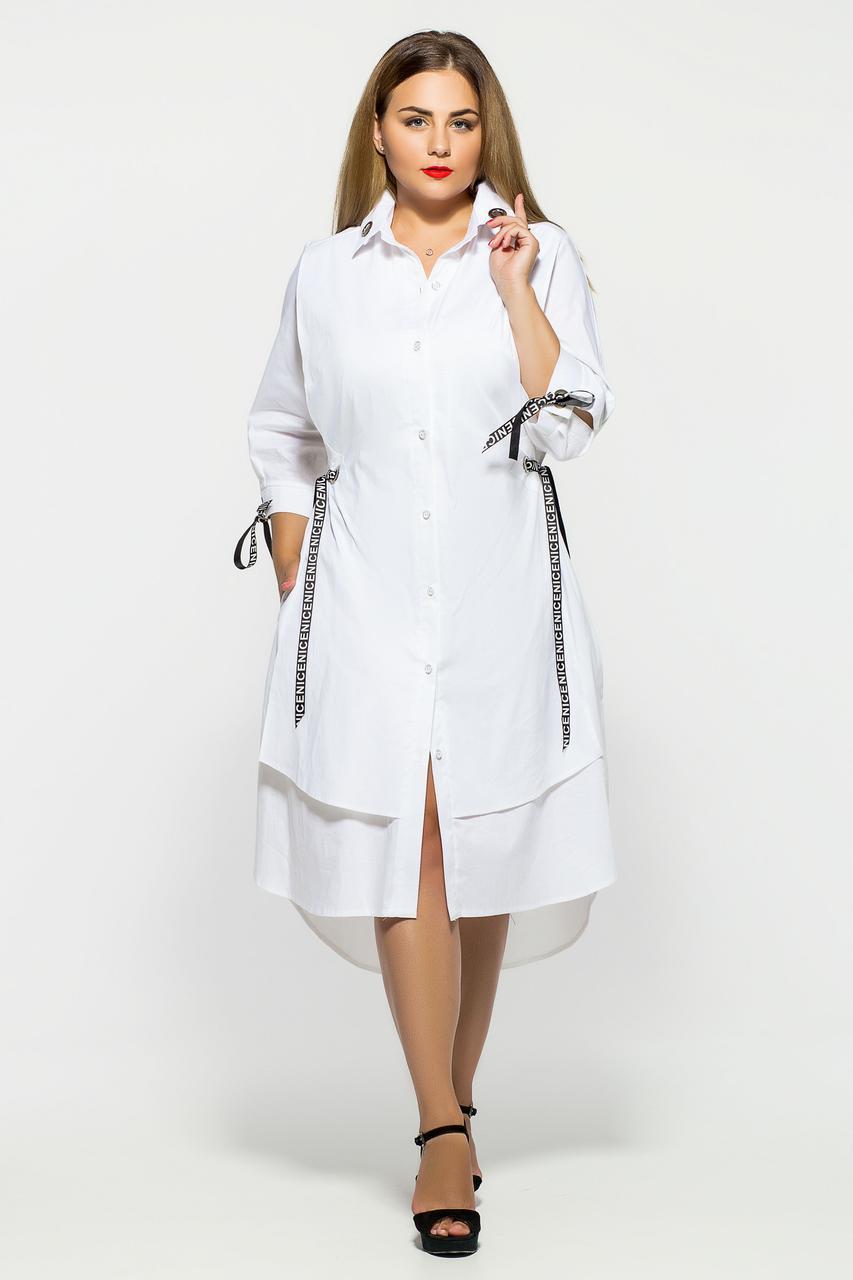 Платье оригинальное Евгения белая