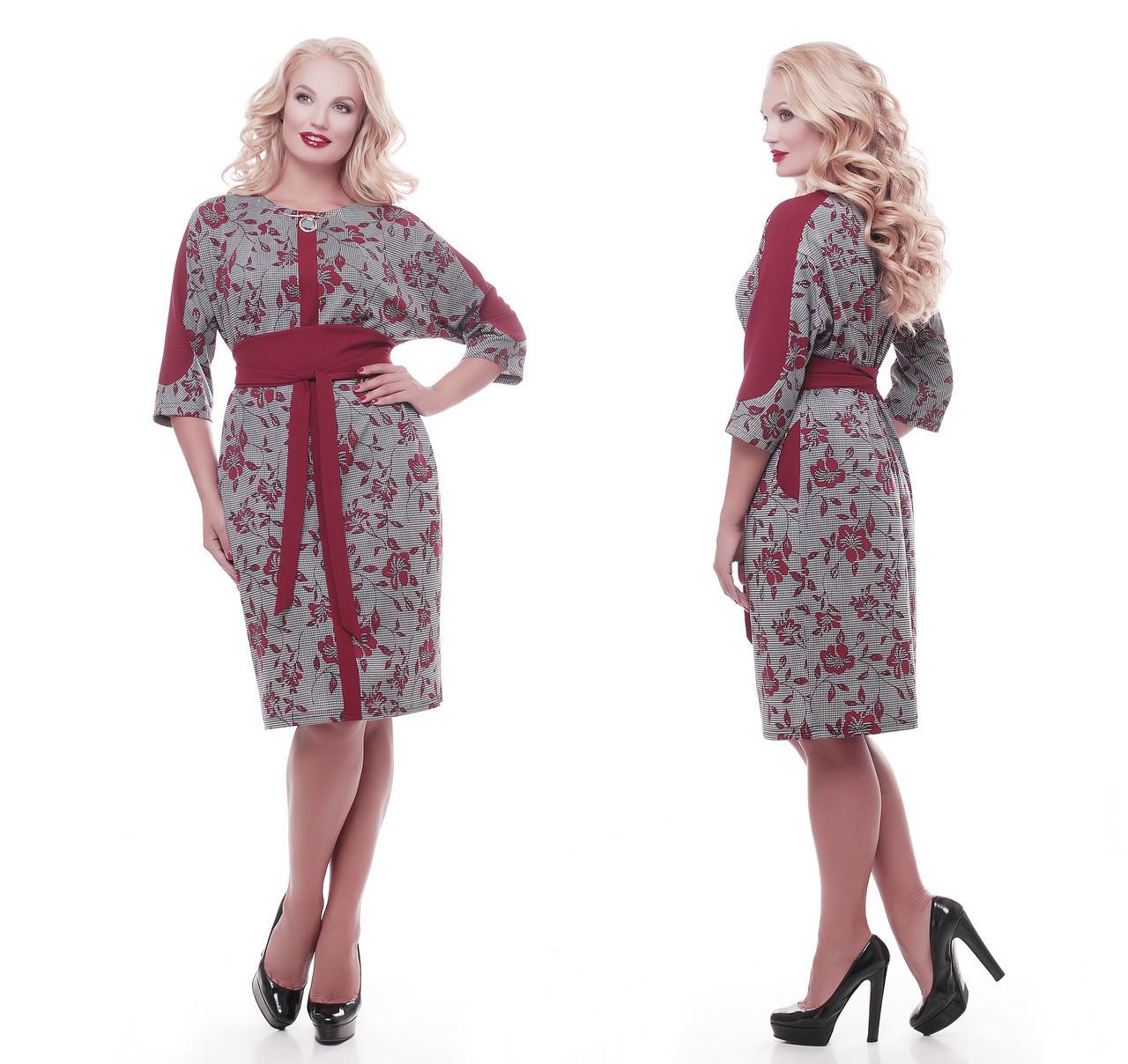Красивое платье   Кэтлин бордо розы