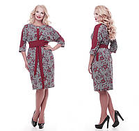 Красивое платье   Кэтлин бордо розы, фото 1