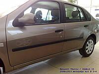 Молдинги на двери Renault Symbol II / Thalia II 2008-2013, фото 1
