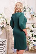 Женское платье на каждый день Ольга цвет бутылка размер 52-62 / батальные размеры, фото 2