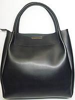 Модная женская сумка с косметичкой черный цвет