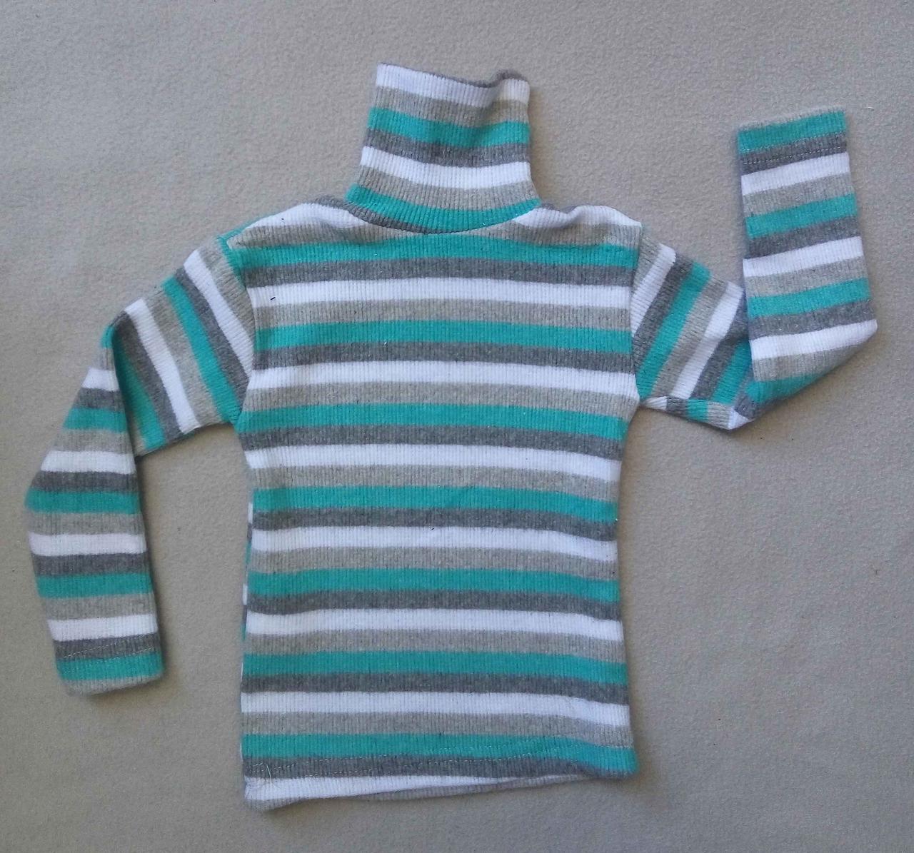 Детский гольф-рубчик в полоску 1-4 года Турция оптом