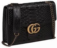 Модная женская кожаная сумка 8712 Черный